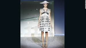 the dresses were wired with hidden mechanics to transform the final dress revealing a completely brand innovative hidden