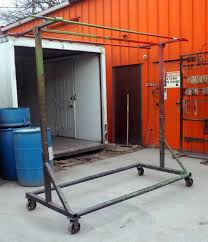 Powder Coating Rack Rolling Shop Rack For Powder Coat Wet Rack Or Baking 100100Tx100100W 17