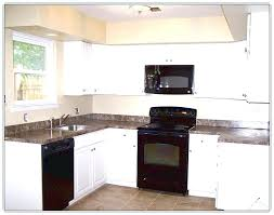 kitchen design white cabinets white appliances. White Cabinets With Appliances Kitchen  Black . Design