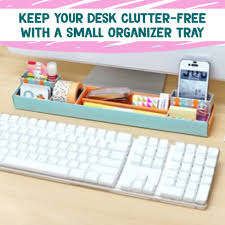 Office desk organization ideas Messy Desk Organization And Home Office Organization Ideas Make Diy Tray For Front Of Your Declutteringyourlifecom Desk Organization Simple Tips Diy Ideas For Your Home Office