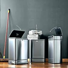 simplehuman countertop trash can trash can stainless steel rectangular liter step on trash can trash can simplehuman countertop trash can