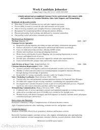 Resume Skills For Customer Service Tjfs Journal Org