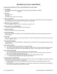 Simple Rental Agreement Sample Tenant Lease Agreement Printable ...