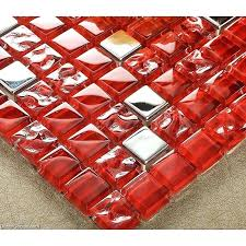 red glass tile out of stocks dark red glass tile mirror tiles pink decorative stainless steel
