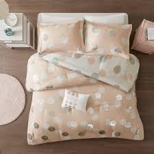 Intelligent Design Natalie 5 Piece Comforter Set Mi Zone Evelyn Metallic Dot Print Reversible Comforter Set