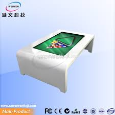 Interactive Coffee Table Fashion Design Interactive Multi Touch Table Advertising Player