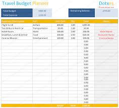 Trip Planner Calculator Travel Budget Template Budget Calculator Dotxes