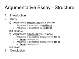 structure of an essay example co structure