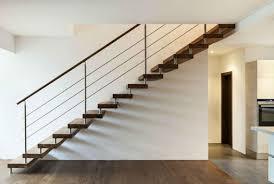 modern steel stairway handrail