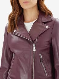 plum las jaeger essential leather biker jacket long sleeve jaeger long sleeve biker aviator jackets plum las las designer clothing british