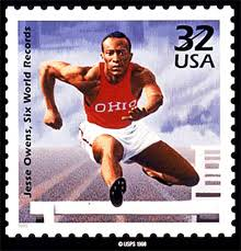 jesse owens the german way more this us postage stamp was issued in honor of jesse owens in 1998 photo usps