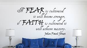 John Paul Jones Quotes Unique John Paul Jones If FearWall Decal Quotes Christian Wall Decals