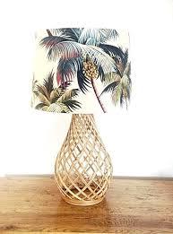 coastal lamp shades lampshade decor palm trees shade beach tropical barrel themed light coastal lamp shades
