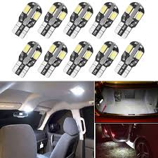 Fiat 500 Interior Light Bulb Us 4 93 21 Off 10x W5w T10 Led Canbus Light Bulb For Fiat 500 500l Grande Punto Panda Ducato Croma 500x Albea Car Interior Dome Reading Lights In