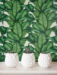 Banana Leaf Behang Verwisselbare Behang Self Adhesive Etsy