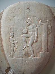 association football  an episkyros player on an ancient stone carving at the national archaeological museum athens