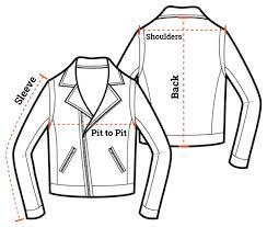 leather jacket size chart size chart block bilt