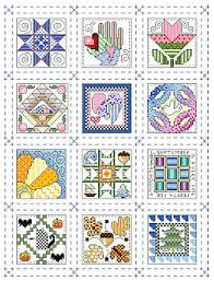 Mini Quilt Blocks to Cross Stitch Â« Kooler Design Studio Blog & 12 tiny quilt blocks, one for each month of the year Adamdwight.com
