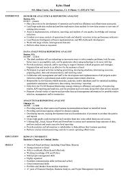 Reporting Analyst Resume Sample Analytics Reporting Analyst Resume Samples Velvet Jobs 19