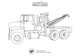 Small Picture Tow Truck Printable Coloring Pages tow truck pictures to color