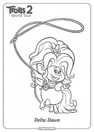 Find all the coloring pages you want organized by topic and lots of other kids crafts and kids activities at allkidsnetwork.com. Printableolls Delta Dawn Pdf Coloring Page Pages Free World Tour For Kids Movie Madalenoformaryland