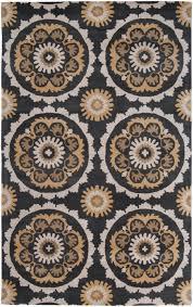 b smith for surya mosaic mos 1063 black area rug