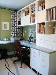 trendy office design. Ikea Office Desk Ideas Example Of A Trendy Home Design In Toronto With Built And