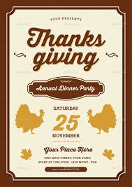 thanksgiving party flyer thanksgiving dinner flyer by vynetta graphicriver