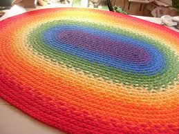 plush rainbow rug unique design braided made from organic cotton and reclaimed extraordinary innovative ideas funky colored area rugs chevron carpet