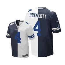 Elite - Football Jerseys Fashion Dallas Jersey 4 Prescott Blue Men's Navy Split white Sale Dak Cowboys