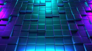Neon 3D Cubes 4K
