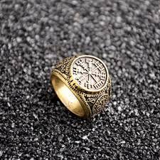 Dvě Barevné K Dispozici Vintage Valknut Rune Odin Symbol Prstýnka Prsten Viking Kompas At Vova