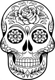 Small Picture Hard Coloring Page Of Sugar Skull To Print For Grown Ups