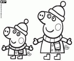 Peppa Pig Kleurplaat Kerst