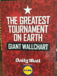 Daily Mail Football World Cup Wallchart Poster Fixture Guide