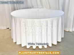 white tablecloth for 60 round table
