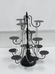 chandeliers chandelier cupcake holder food service presentation stand black beaded 8 gold
