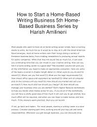 how to start a home based writing business th home based business se how to start a home based writing business 5th home based business series by your day job