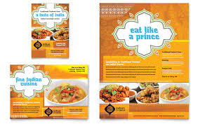 Catering Flyer Sample Microsoft Word Template Indian Restaurant