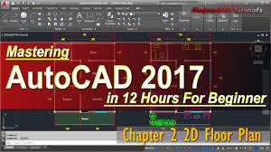 autocad 2017 2d floor plan tutorial for beginner course chapter 2 you
