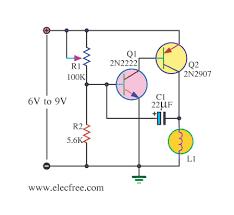 four lamp flasher circuit using transistors eleccircuit com 12 Volt Flasher Circuit Diagram lamp flasher by 2n2907 bipolar transistor 12 volt led flasher circuit diagram