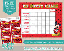 printable mickey mouse potty training chart punch cards 128270zoom