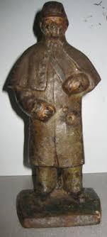 rare antique civil war union solr cast iron door stop