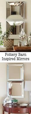 Pottery Barn inspired mirrors | justagirlblog.com