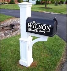 mailbox post plans. Unique Mailbox Custom Mailbox Post Name Vinyl Family  Plans With Mailbox Post Plans