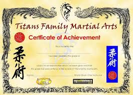 Martial Arts Certificate Templates Template Design Martial Arts Certificate Templates Collection Of