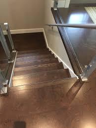 dark cork flooring brown salami stairs