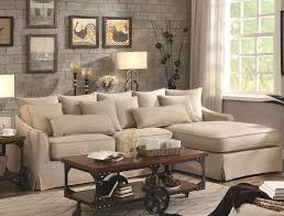 Living Room Sectionals With Chaise Coaster Knottley Slipcovered Sectional Sofa With Chaise And