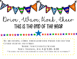 End of year flyer for chc. End Of The Year Parade 2020 Star Center Elementary School