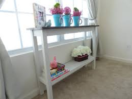 hall console table white. Narrow Hallway House Design With Small Wood Console Table Storage And Painted White Color On Cream Carpet Tiles Beside Window Curtains Hall T